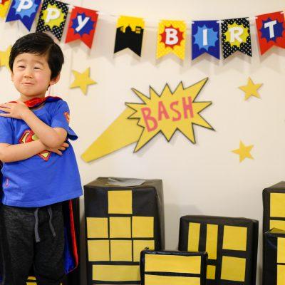 Bash's 3rd Birthday: A Superhero Bash