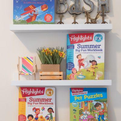 Sunday Shelfie: Summer Workbooks